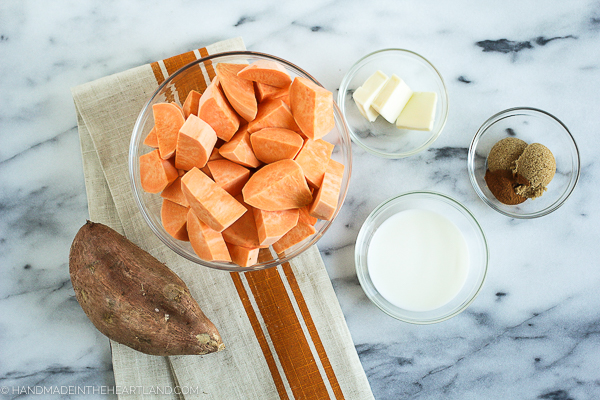 Ingredients for Sweet Potato Casserole Cups