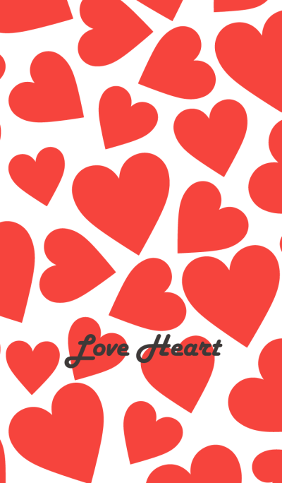 Love Heart -WHITE&RED-