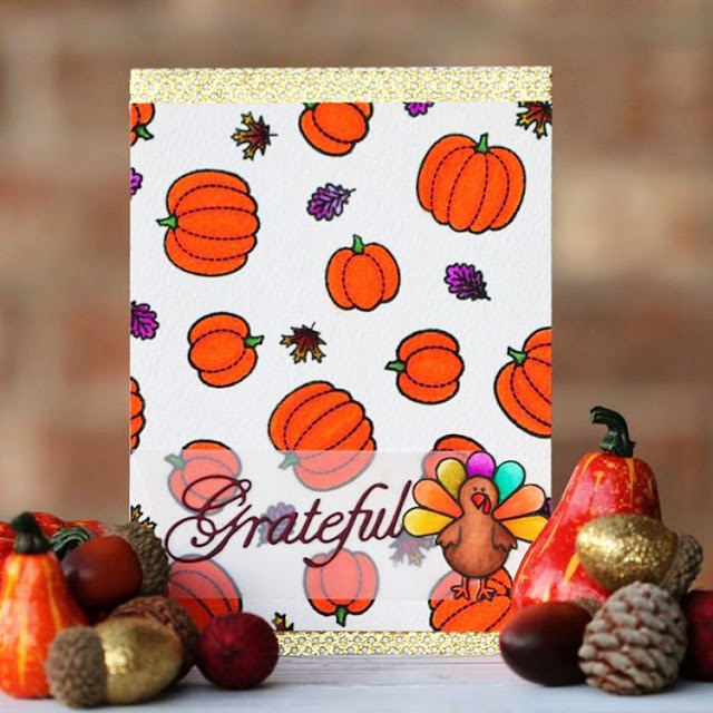 Sunny Studio Stamps: Harvest Happiness Thanksgiving Card by Alba