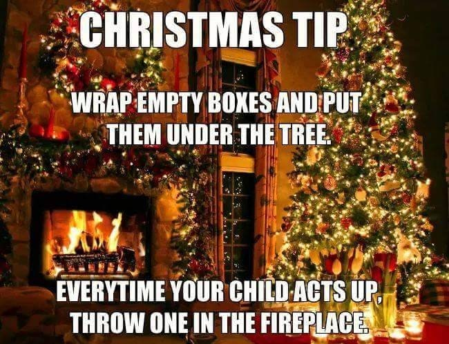 Christmas tip, wrap empty boxes and put them under the ...