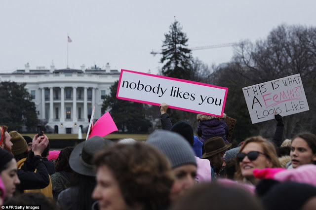 Trump protest at the White House Sign. No one likes you. Mutual Assured Lunacy, postscript and Other stories of Trump and Megalomaniacs. marchmatron.com