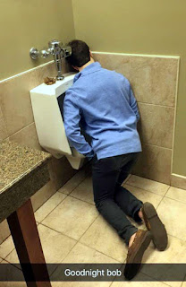 unconscious drunk asleep in urinal funny fail