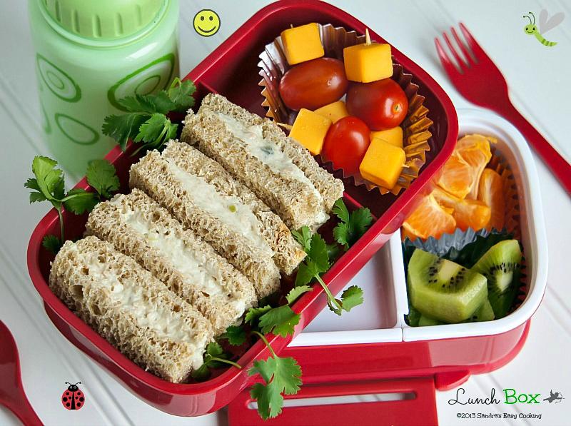 Homemade Bento Lunch Box Chicken Salad Sandwich