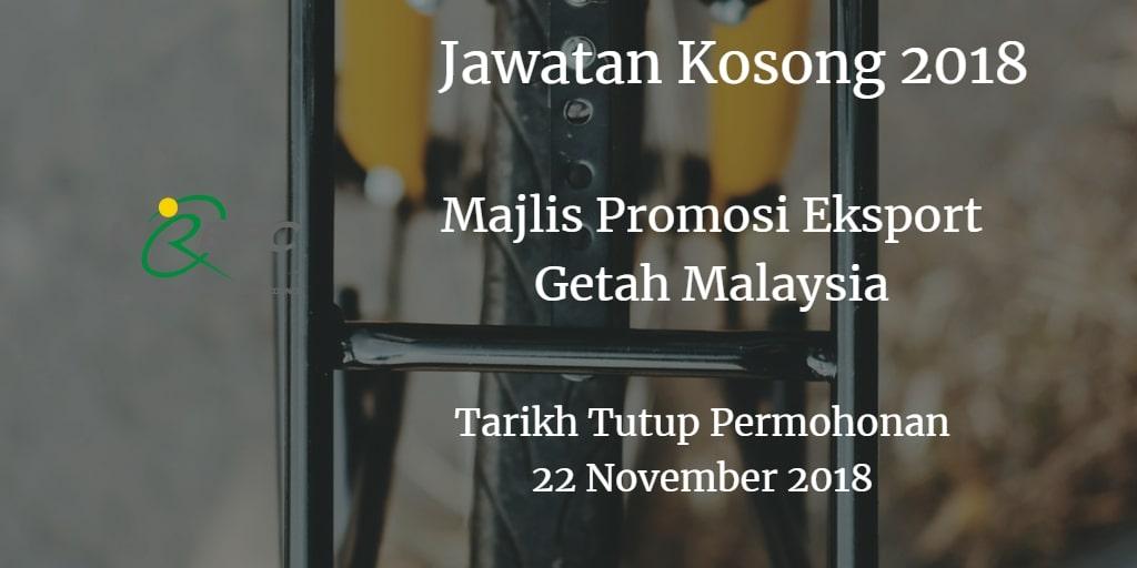 Jawatan Kosong MREPC 22 November 2018