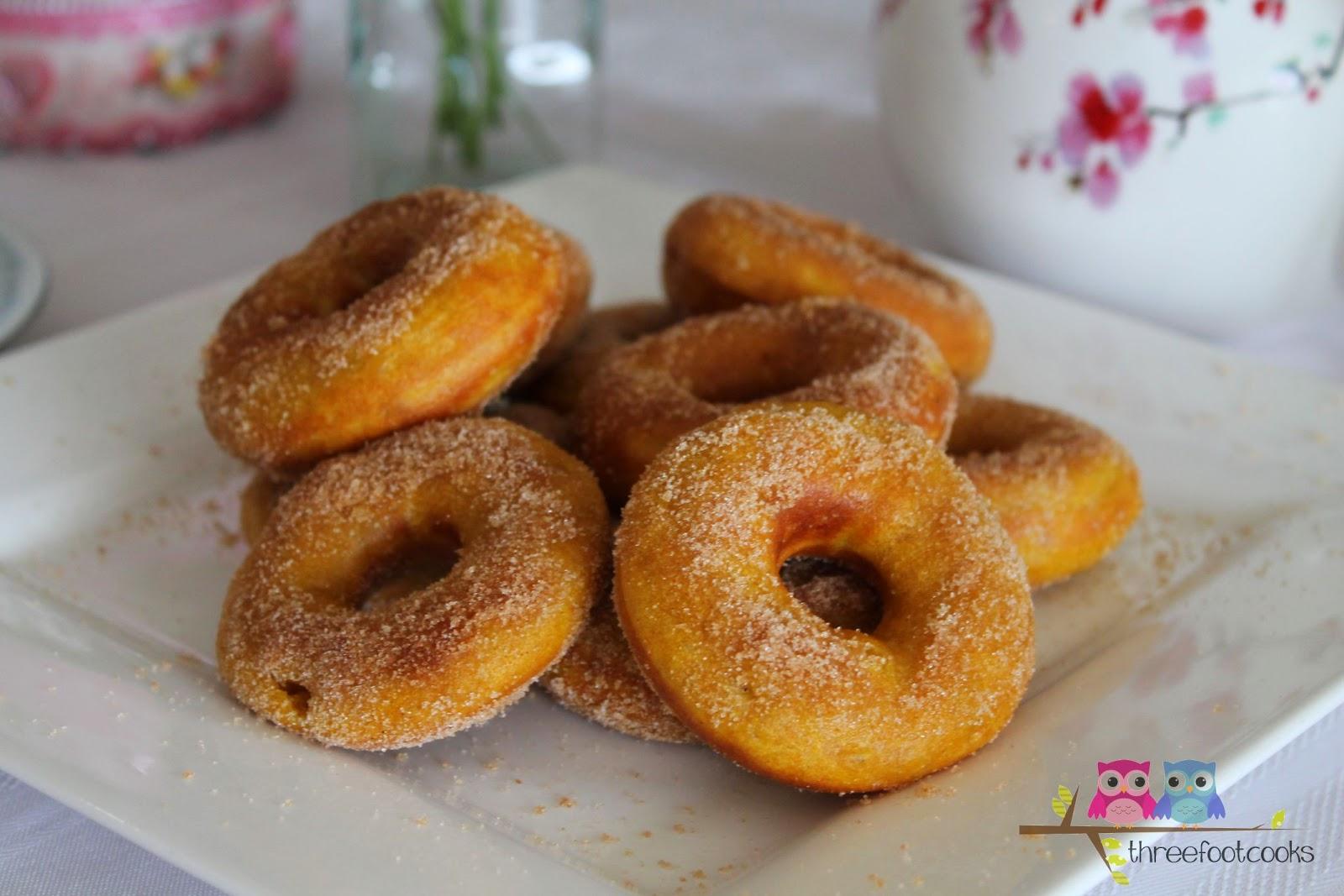 Pumpkin Cinnamon Doughnuts
