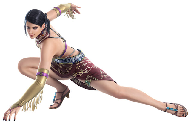 zafina tekken 6 feet and sandals
