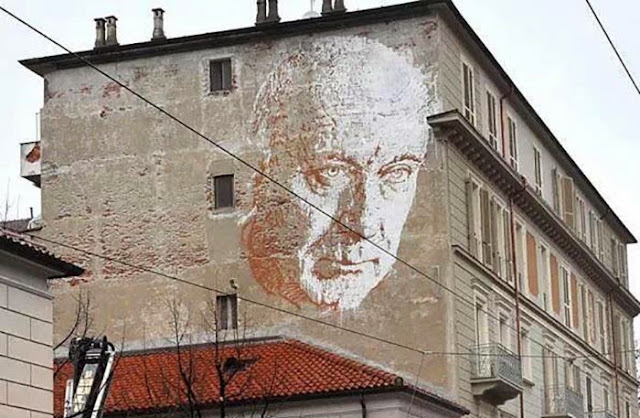 New Street Art Mural By Portuguese Artist Vhils On Via Nizza In Turin, Italy. 1