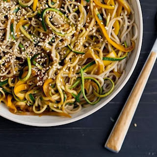 Garlic Soba and Zucchini Noodles Recipe | Healthy Noodles Recipe