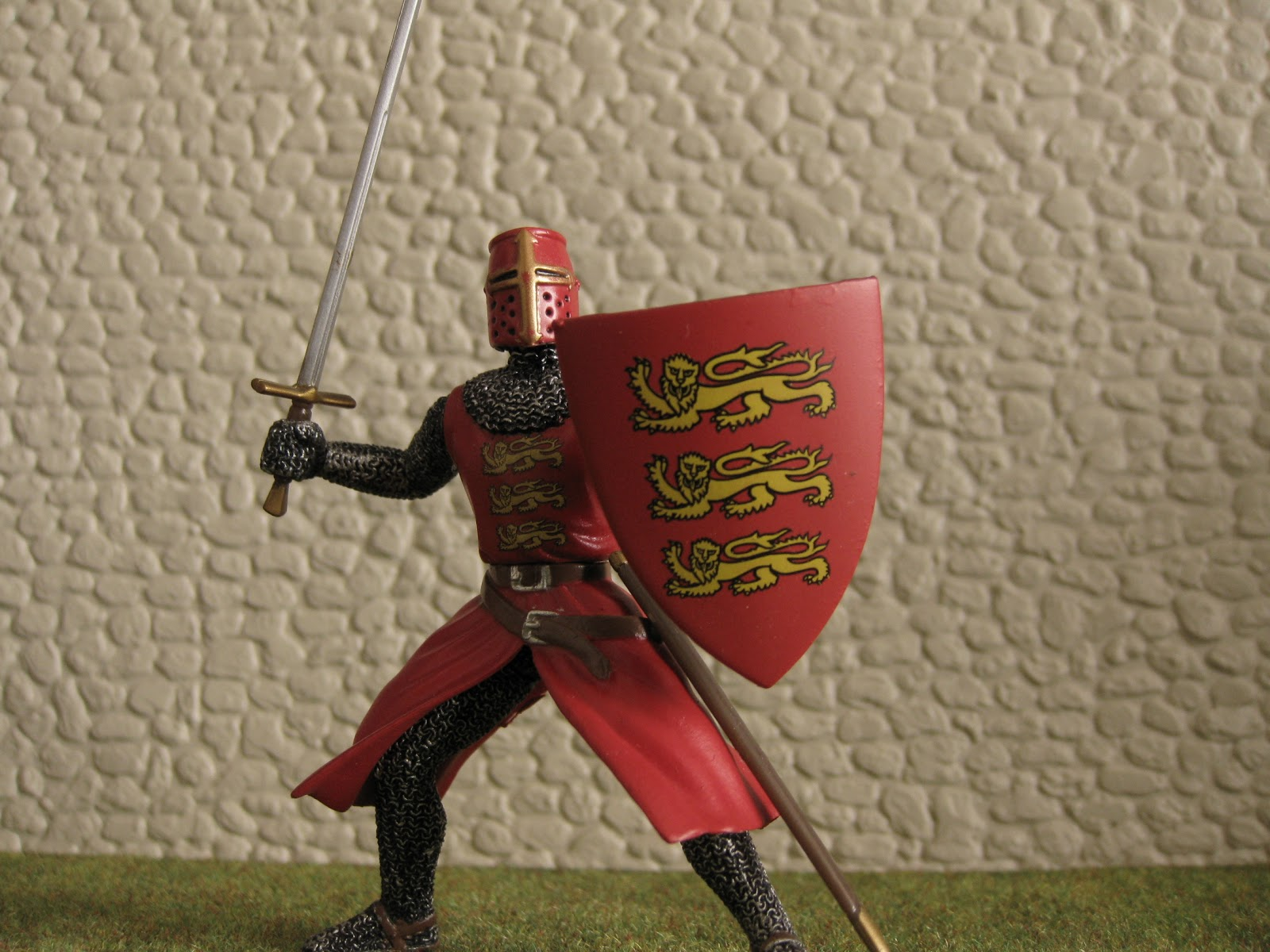 Beautifully Painted Figure Of A Crusader Knight Under