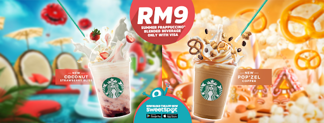 SweetSpot Malaysia Starbucks Frappuccino Blended Beverage RM9 Visa Checkout