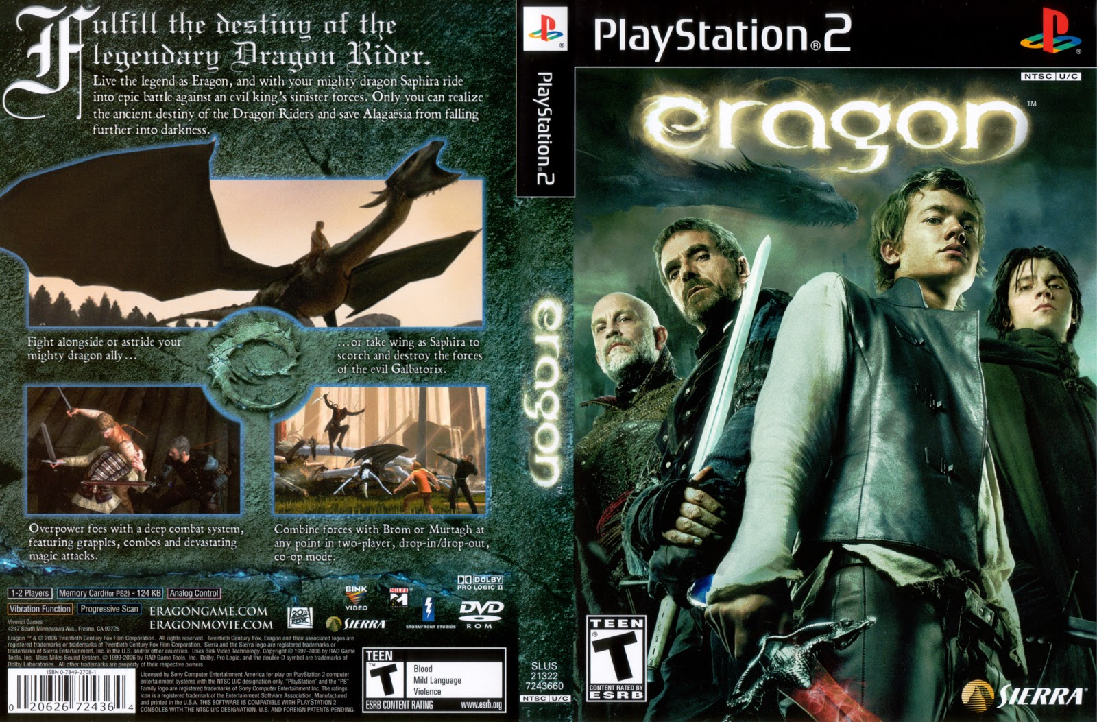 Eragon (usa) ps2 / sony playstation 2 iso download | romulation.