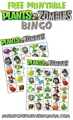 Plants vs Zombies bingo