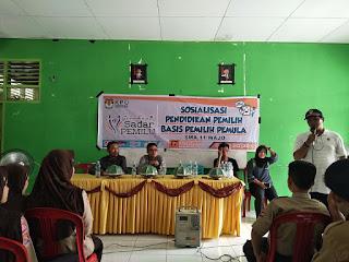KPU Wajo Goes To School di SMAN 11 Wajo Kecamatan Takkalalla