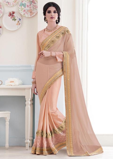 desain baju sari india asli
