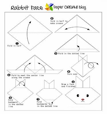 rabbit origami instructions - House Interior Design | 400x373