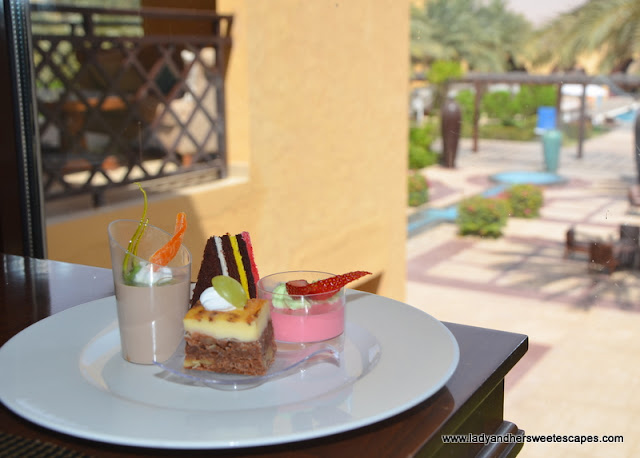 desserts in Tilal Liwa Hotel