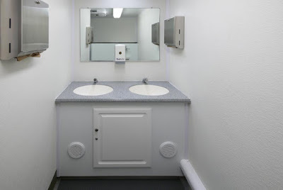 Vanity with Sinks and Mirror