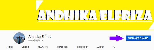 Custome Channel Untuk Menambahkan Link