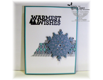 Crafty Colonel Donna Nuce for CASE-ing Christmas blog, StampinUp Christmas Bliss and Festive Flurry