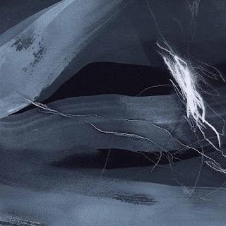 Acrylique et crayon sur Arches noir © Annik Reymond