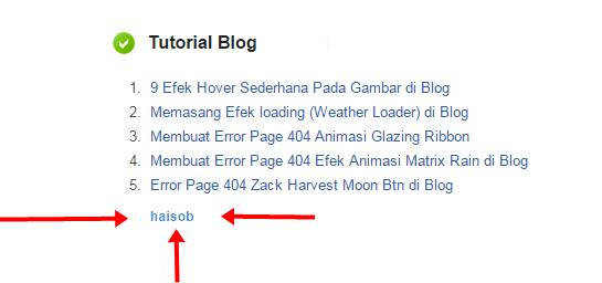 contoh Script yang didalamnya telah ditambahkan link aktif