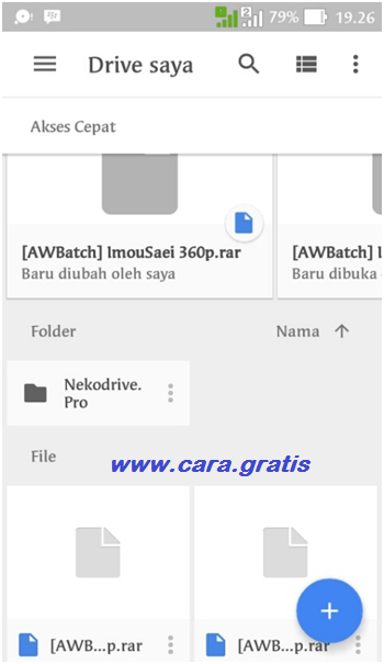 Upload ke Google Drive