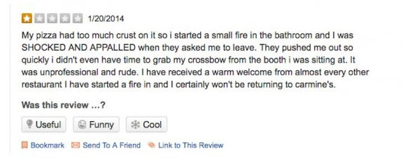 10 funniest reviews people dropped on services they used