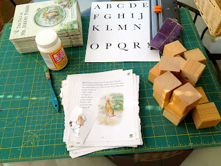how to make Peter Rabbit wood blocks