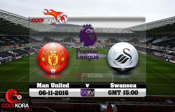 مشاهدة مباراة سوانزي سيتي ومانشستر يونايتد اليوم 6-11-2016 في الدوري الإنجليزي