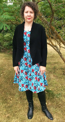 Creates Sew Slow: Silhouette Traditional Red Flower Dress