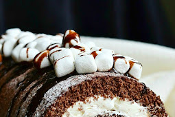 Hot Chocolate Cake Roll