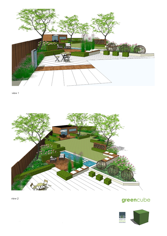 greencube garden and landscape design, UK: Exciting Garden ... on Rectangular Backyard Design  id=44919