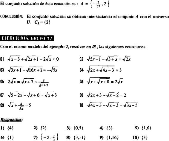 Ecuaciones Con Radicales Irracionales Ejercicios Resueltos Y Para Resolver Pdf