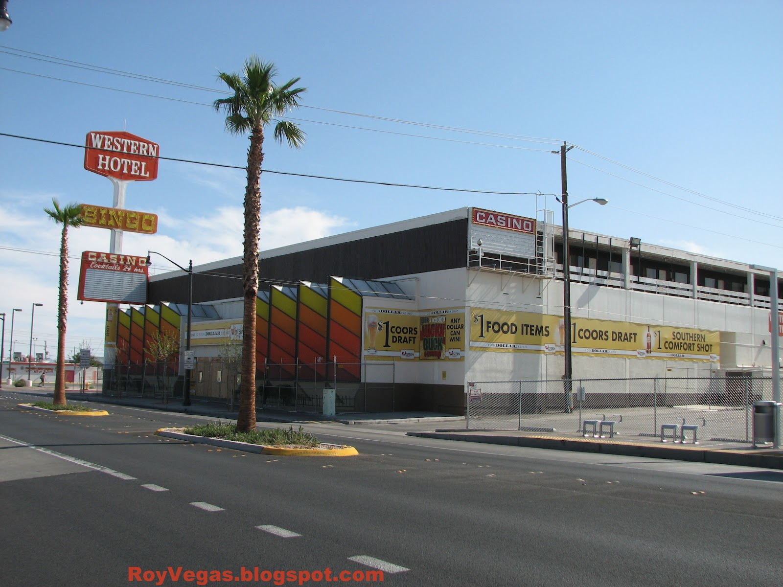 Western Hotel Las Vegas Closed Fenced