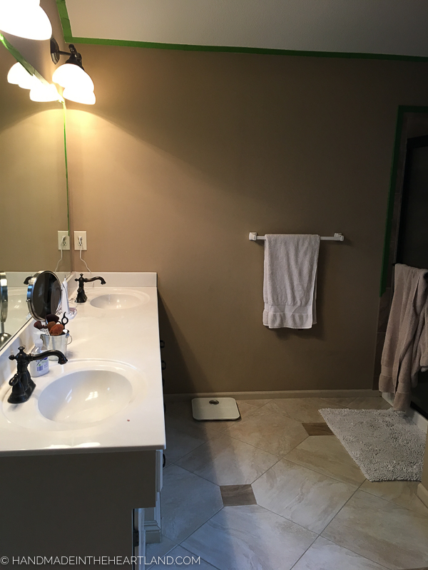 You Can See In These Photos That The Walls Of The Bathroom Really Were In  Dire Need Of A New Coat Of Paint. Water Spots Around The Tub And Shower  Looked ...
