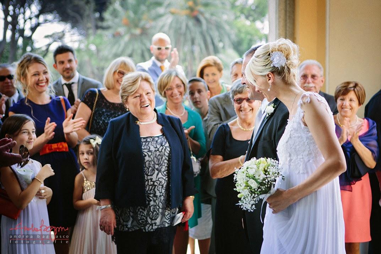 arrivo sposi matrimonio villa Cambiaso Arenzano