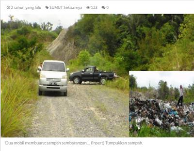 Viral Sebuah Truk Dinas Kebersihan Membuang Sampah Sembarangan