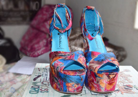 Shoes - Jeffrey Campbell's El Carmen Blue Fuschia