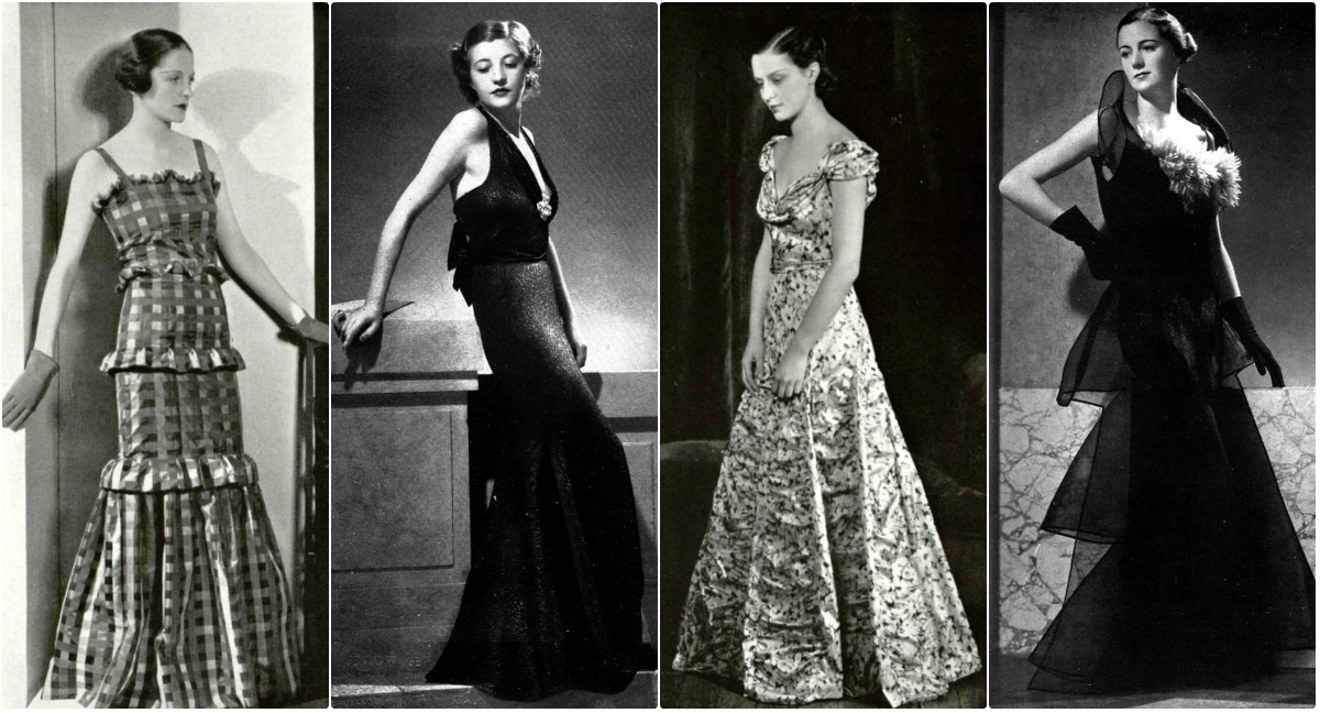 Vintage 30s Evening Gowns