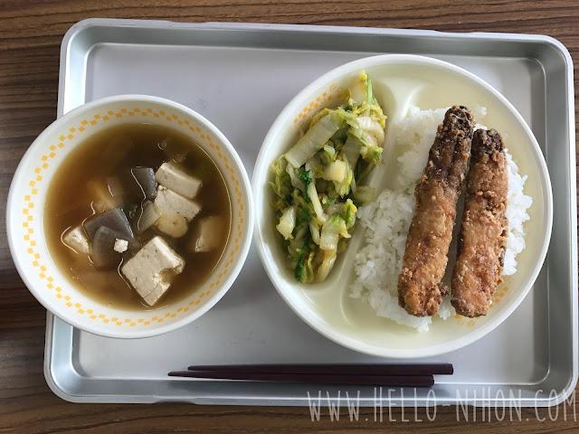 Japanese elementary school lunch