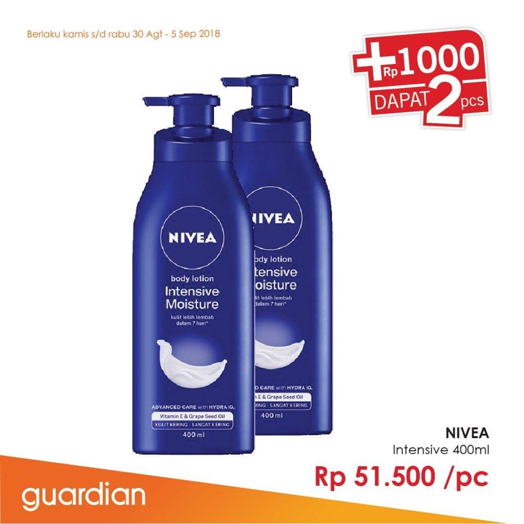Guardian - Promo Nivea Body Lotion Cukup Tambah Rp.1000 Dapat 2 Pcs (s.d 5 Sept 2018)