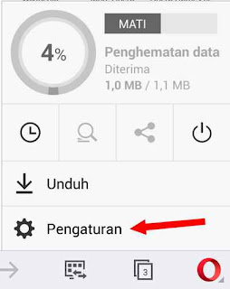 pengaturan user agent opera