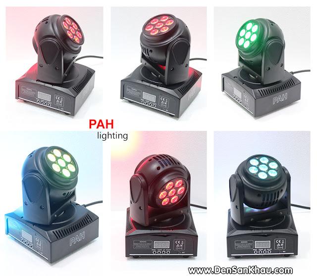 Đèn Moving Head Zara được tích hợp chế độ 7 màu, mỗi đầu LED sẽ cho ra các màu riêng biệt với nhau qua chế độ trộn màu và ghép màu.