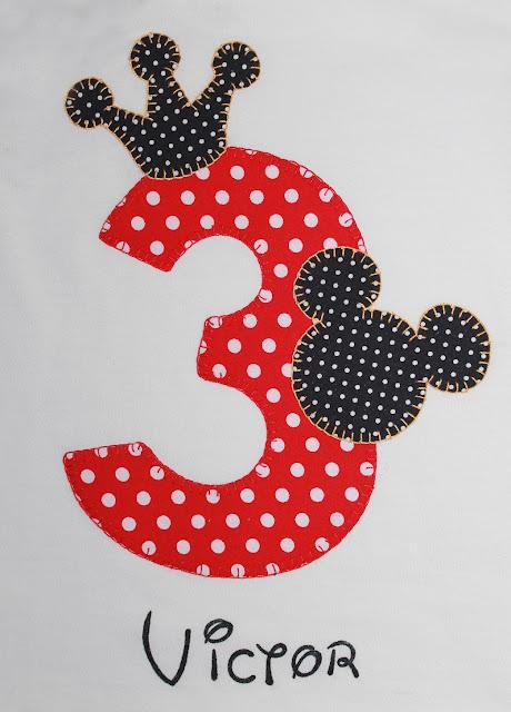 camiseta de cumpleaños 3 años mickey mouse