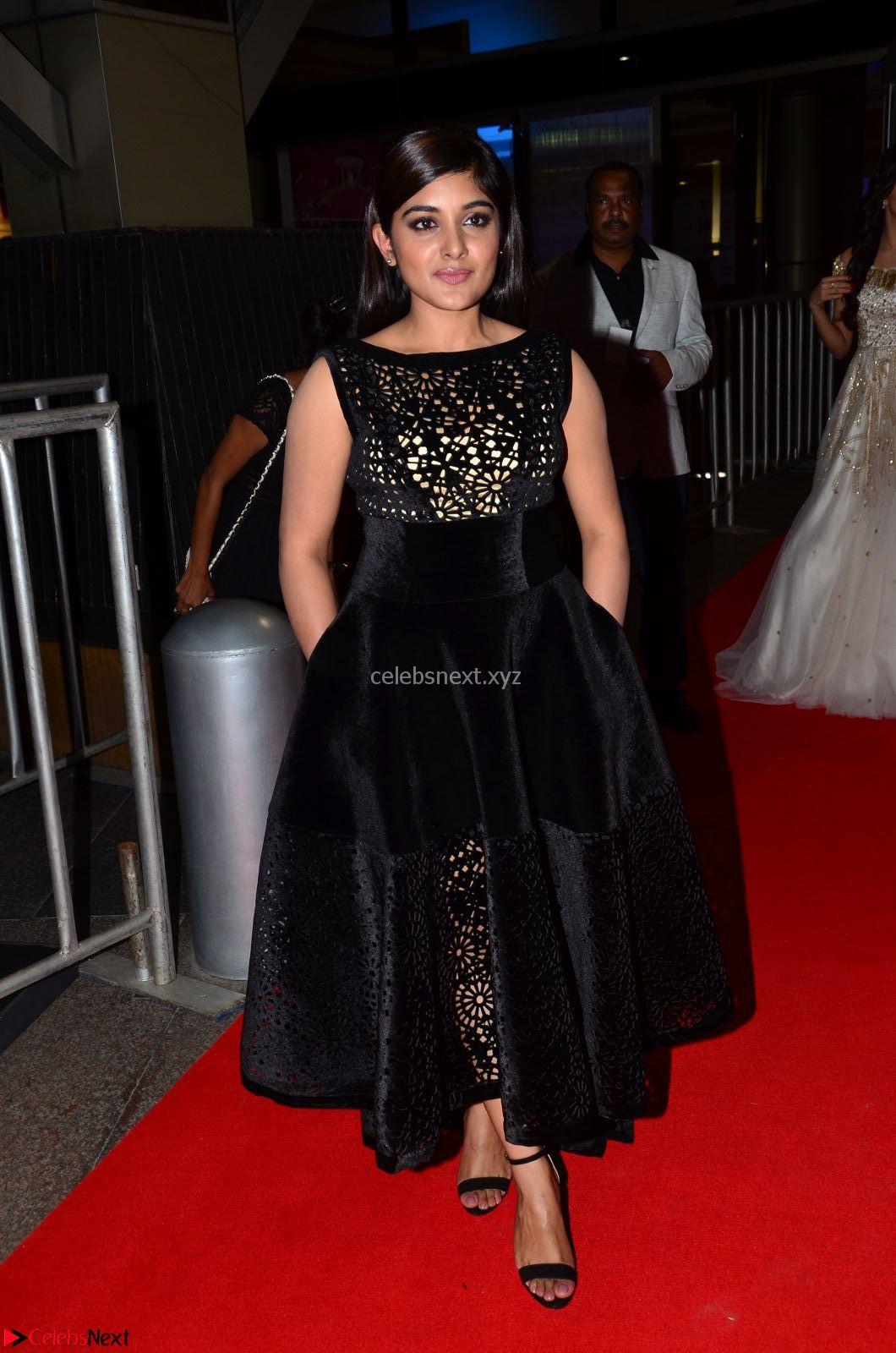 Niveda Thomas Black Sleeveless Cute Dress at 64th Jio Filmfare Awards South - 17th Jun 2017~ CelebsNext Exclusive