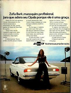 propaganda Opala - 1973, Chevrolet década de 70, anos 70, GM, Oswaldo Hernandez, carros antigos,