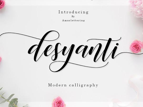 Desyanti Modern Script Font Free Download