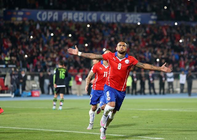 Chile y México en Copa América 2015, 15 de junio