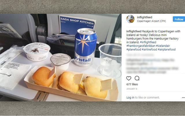 Menu Makanan di dalam Pesawat Iceland Air