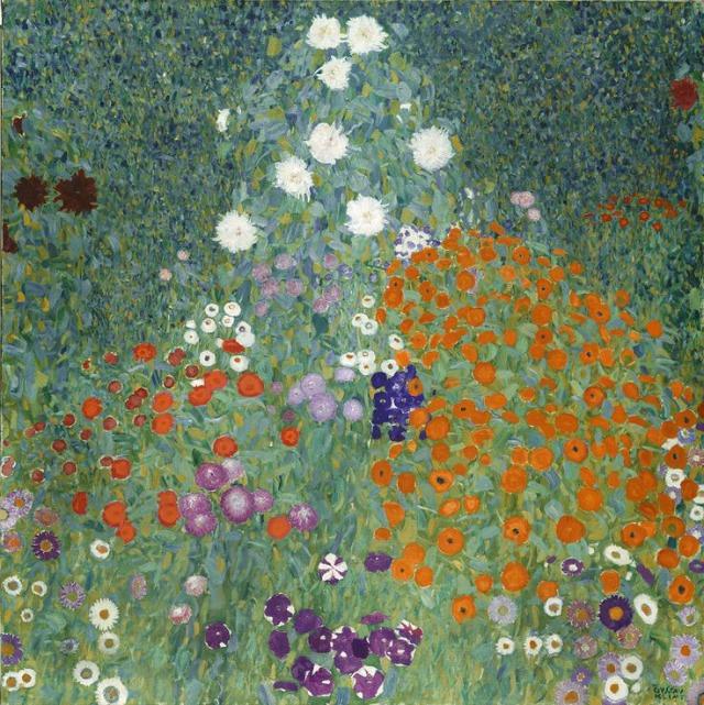 Gustav Klimt - Jardin De Fleurs, 1906-08 Exposición Painting the Modern Garden: Monet to Matisse